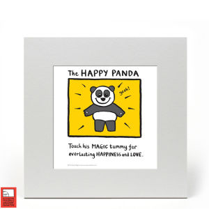Impression Édition Limitée Happy Panda - Edward Monkton
