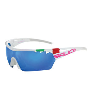 Salice 006 ITA Sports Sunglasses - Mirror - White-Pink/RW Blue