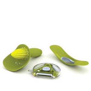 Joseph Joseph Gadget Gift Set Green (Rotary peeler, Rocker and Catcher)