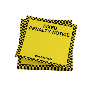 Fixed Penalty Notice Sticky Notes