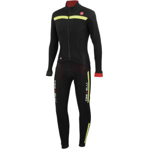 Castelli Sanremo 2 Thermo Suit - Black/Yellow Fluo