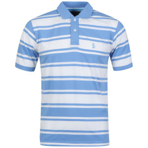 Barnaby Mac Men's Banbury Striped Polo - Ecru/Blue Stripe