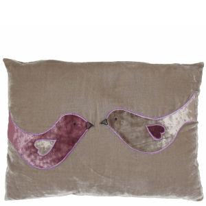 Torba Lovebird Silk Velvet Cushion