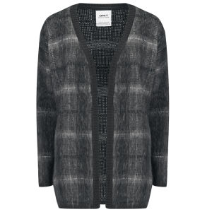 ONLY Women's Ava Tartan Cardigan - Phantom
