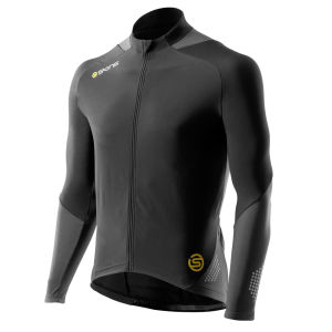 Skins C400 Men's Thermal Long Sleeve Jersey - Black/Graphite