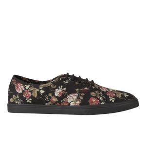 Vans Women's Authentic Lo Pro Floral Trainers - Black