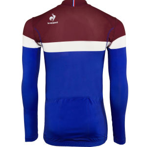 Le Coq Sportif Men's Cycling Performance Long Sleeve New Erco Jersey - Cobalt