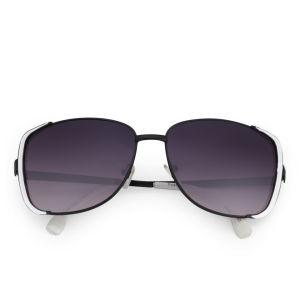 Eyecatcher Women's Oversized Sunglasses - White/Black