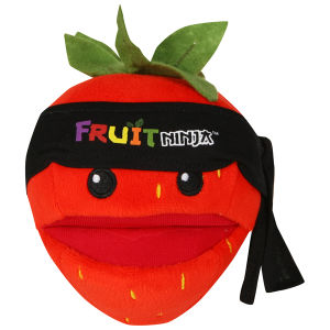 Fruit Ninja 5 Inch Plush With Sound - Strawberry