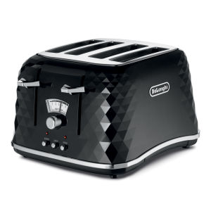 De'Longhi CTJ4003 Brilliante 4 Slice Toaster - Black