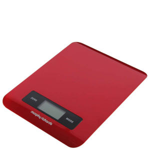 Morphy Richards 46181 Electronic Kitchen Scales - Red