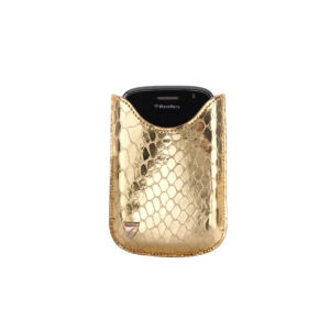 Aspinal of London Large Blackberry Case - Gold