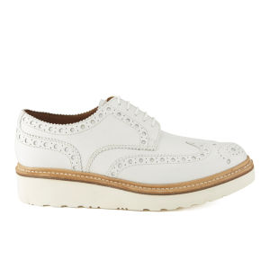 Grenson Men's Archie V Leather Brogues - White