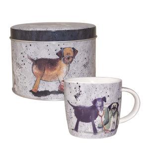 Alex Clark Dogs Mug In Tin