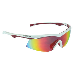 Salice 843 RWB Sports Sunglasses - Mirror - White/Red