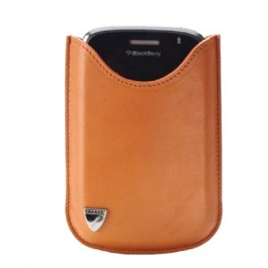 Aspinal of London Small Blackberry Case - Tan
