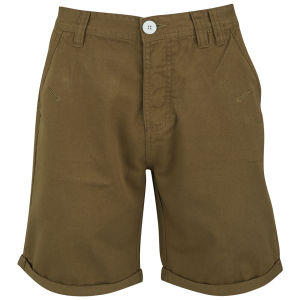 Soul Star Männer Chino Melton Shorts - Tabak