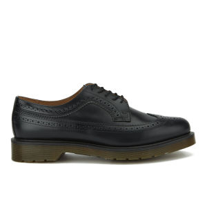 Dr. Martens Men's Core 3989 Smooth Leather Wingtip Brogues - Black