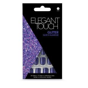 Elegant Touch Glitter Nails - Glitz & Glamour