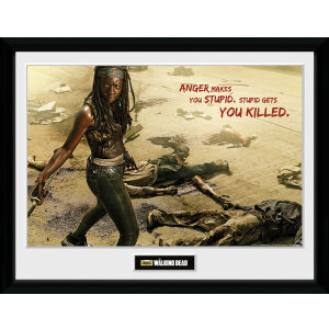 The Walking Dead Michonne Kill - Framed Photographic - 16 x 12inch
