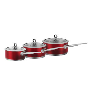Morphy Richards 46391 3 Piece Saucepan Set - Red - 16/18/20cm