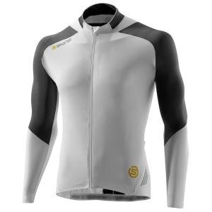 C400 Men's Long Sleeve Jersey - White/Grey