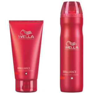 Wella Professionals Brilliance Duo (适合粗糙染过色的 Hair)- Shampoo & Conditioner