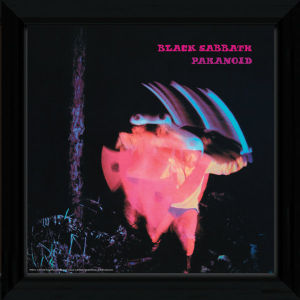 "Black Sabbath Paranoid - 12"""" x 12"""" Framed Album Prints"