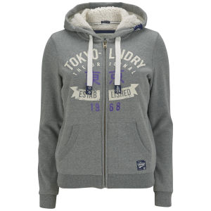 Tokyo Laundry Women's Maya Zip Through Hoody - Grey Marl