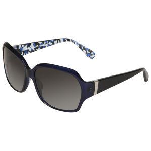 Diane von Furstenberg Patterned Arm Detail Sunglasses - Royal
