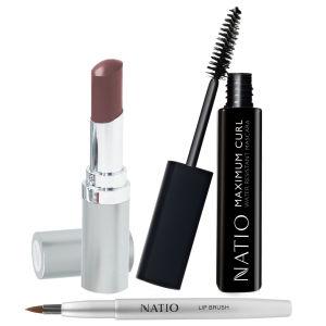 Natio Lip & Eye Deal - Contains   Natio Pure Lip Creme , Natio Lip Brush & Natio Max Curl Mascara