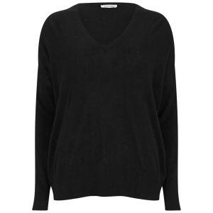 American Vintage Women's Blossom V Neck Pullover - Black
