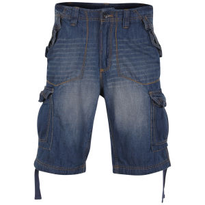 Ringspun Männer Trench Shorts - Denim