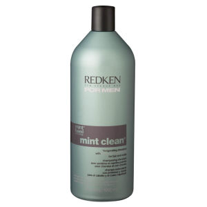 1000ml Redken Men's Mint Shampoo avec pompe