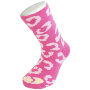 Silly Socks Kids' Leopard - Pink - UK Size 1-4 from I Want One Of Those