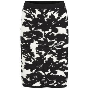 VILA Women's VILAk Knitted Pencil Skirt - Black