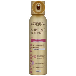 L'Oreal Paris Sublime Bronze Self Tanning Dry Mist - Light (150ml)