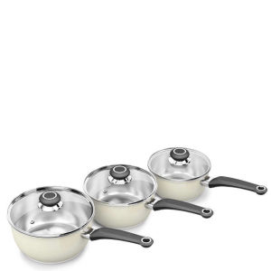 Morphy Richards Equip 3 Piece Pan Set - Cream