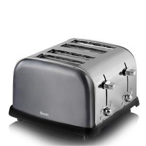 Swan ST16010GRAN 4 Slice Metallic Toaster - Graphite