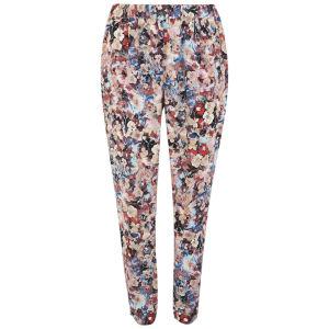 Vero Moda Women's Floral Loose Pants - Coral