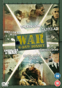Black Hawk Down / Born on 4th of July / Casualties of War / Gardens of Stone / Jarhead / Kingdom