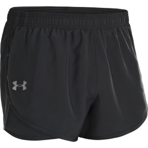Under Armour Men's HG Flyweight Run 3 Inch Shorts - Black/Electric Blue/Reflective