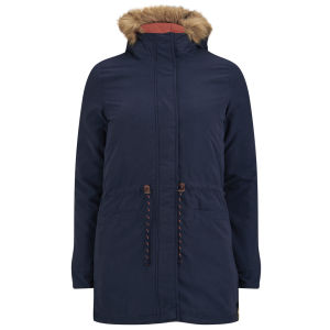 ONLY Women's Lucca Contrast Parka - Navy Blazer