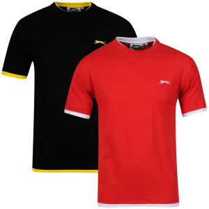 Slazenger Men's 2-Pack T-Shirt - Black/Red