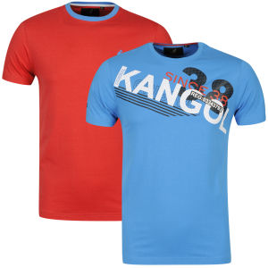 Kangol Men's Cappello and Botch 2 Pack T-shirts - Blue/Red