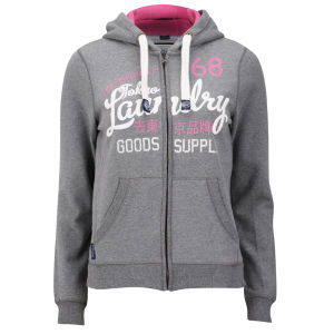 Tokyo Laundry Women's Miah Zip Through Hoody - Mid Grey Marl