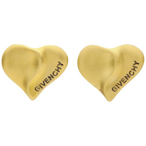 Susan Caplan Vintage Givenchy Gold Plated Heart Earrings