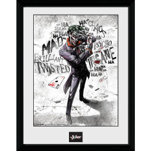 DC Comics Batman Comic Joker Type - Framed Photographic - 16 x 12inch