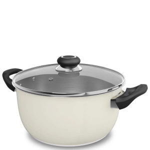 Morphy Richards Equip 24cm Stainless Steel Casserole Pot - Cream