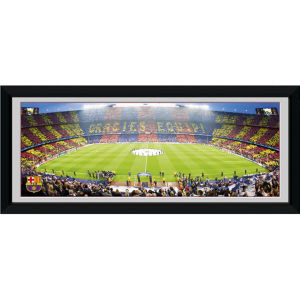 "Barcelona Nou Camp - 30"""" x 12"""" Framed Photographic"
